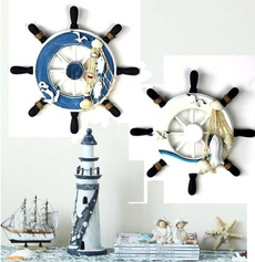 Decor, wallnauticaldecor, boatsteeringwheel, walldecoration