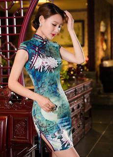 slim dress, Shorts, womencheongsam, Chinese
