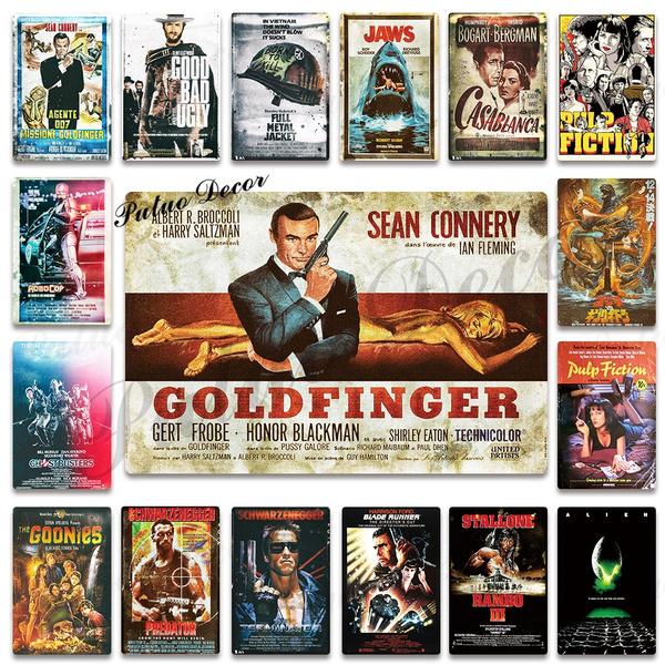 Vintage Movie Metal Poster Plaque Classic Tin Sign Wall Decor Bar Pub Man Cave