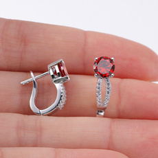 Sterling, Fashion, Gemstone Earrings, Stud Earring