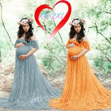 pregnantwomenphotographygroup, off the shoulder dress, long skirt, Plus Size