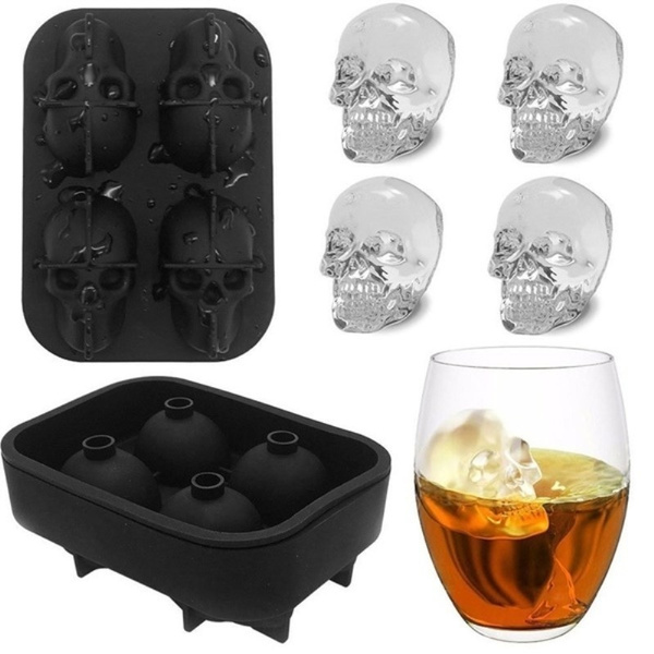 skull, Cocktail, Silicone, Halloween