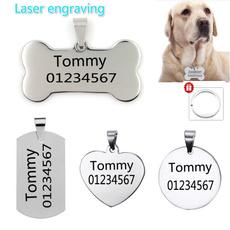 engraving, Steel, Dog Collar, Mascotas