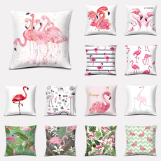 case, decoration, flamingo, leaf