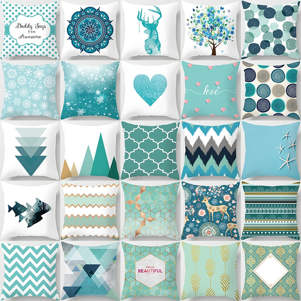 Blues, Christmas, sofacushioncover, printedpillowcase