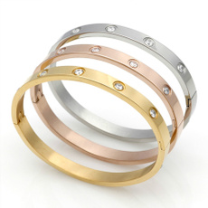 Moda, Love, gold, Stainless Steel