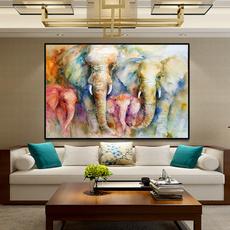 canvasart, Wall Art, Elephant, canvaspainting
