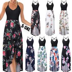 Summer, Fashion, Waist, Swing dress