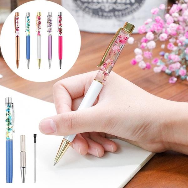 ballpoint pen, Copper, officeampschoolsupplie, Flowers