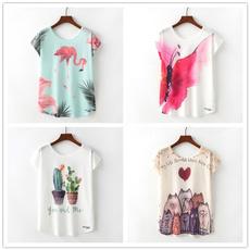 Summer, Fashion, short sleeves, Harajuku