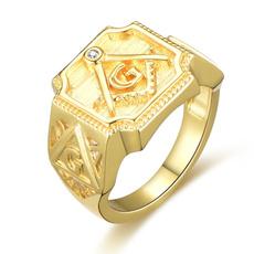 Cubic Zirconia, men_rings, Good, gold