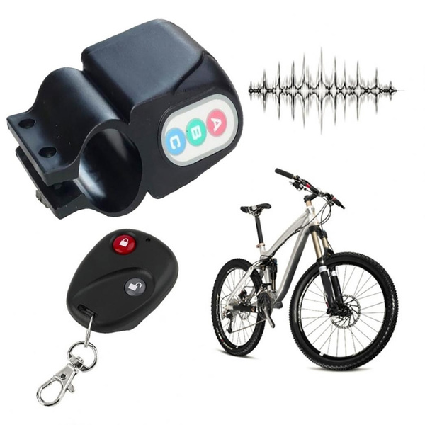 Remote Cnotrol Bicycle Bike Alarm Alerter Antitheft Super Loud Rainproof Burglar
