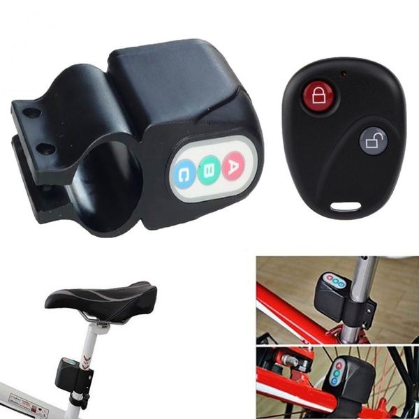 Remote Cnotrol Antitheft Bicycle Bike Alarm Alerter Rainproof Burglar Alarm~