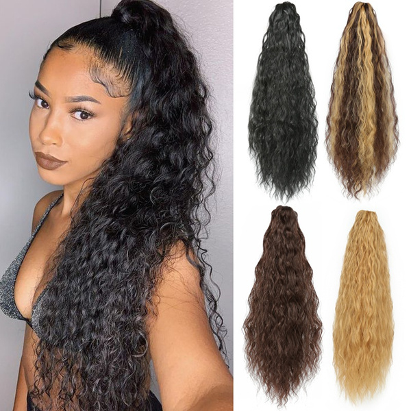 Hairpieces, clip in hair extensions, Claws, Synthetic hair