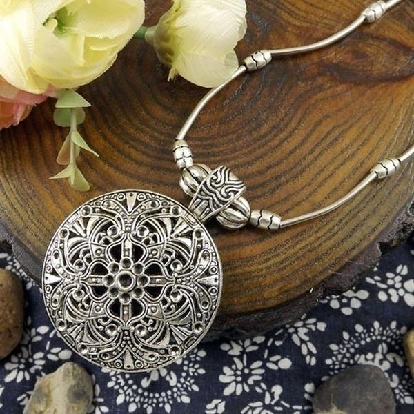 bohemia, Chain Necklace, Flowers, Jewelry