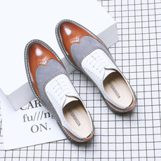 Plus Size, leather shoes, broguesmen, pointedtoeshoe