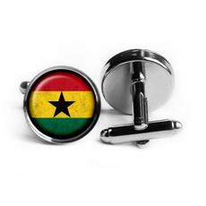 ghana, Jewelry, Cuff Links, Glass