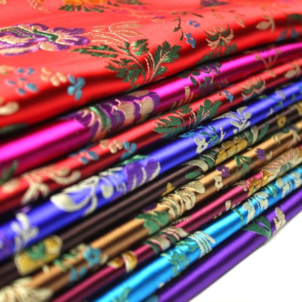 chinesevintagefloralsatinfabric, Cosplay, Fabric, Satin