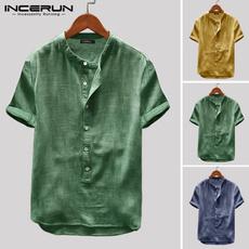 Summer, Plus Size, Cotton, summershirtsformen