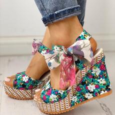 boho, Summer, High Heel Shoe, Platform Shoes