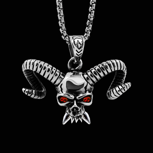 ghost, Sheep, hip hop jewelry, punk necklace
