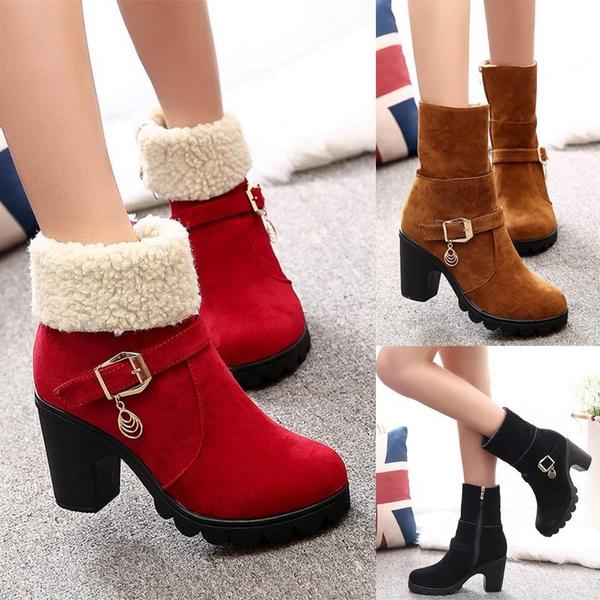 Women Warm Christmas Winter Boots High