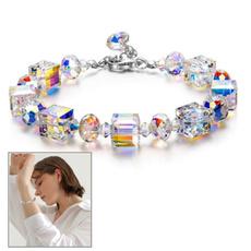 Charm Bracelet, Crystal Bracelet, Jewelry, Crystal