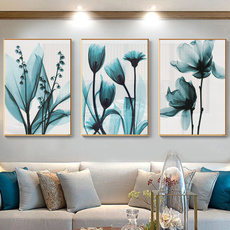 art print, Blues, canvasart, Flowers