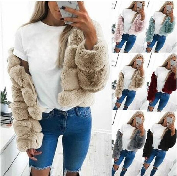 fauxfurcoat, Fleece, Fashion, jacketcoatforwomen