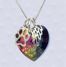 Heart, rainbow, Jewelry, Angel