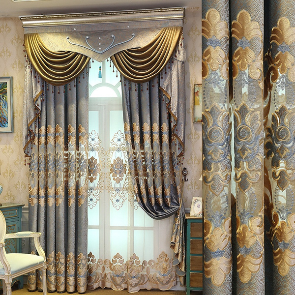 embroiderycurtainsfabric, Lace, curtainsforlivingroom, europeancurtain
