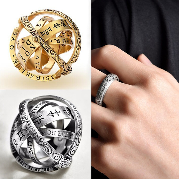Romantic Antique Couple Rings Astronomical Globe Ring Vintage Science  Astronomical Rng Jewelry Astronomischer Kugelring   Wish