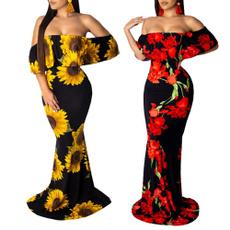 Summer, Strapless Dress, long dress, Dress
