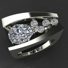 White Gold, DIAMOND, 925 silver rings, promise rings