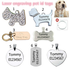 engraving, Steel, puppy, Dog Collar