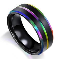Couple Rings, temperaturesensingring, titanium steel, lover gifts