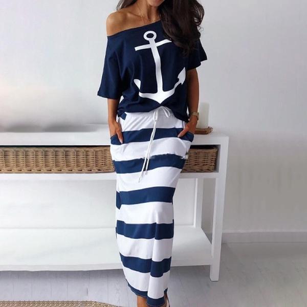 long skirt, Fashion, 2 piece dress sets, long dress