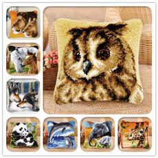 crossstitch, latchhookkit, Cushions, Cover