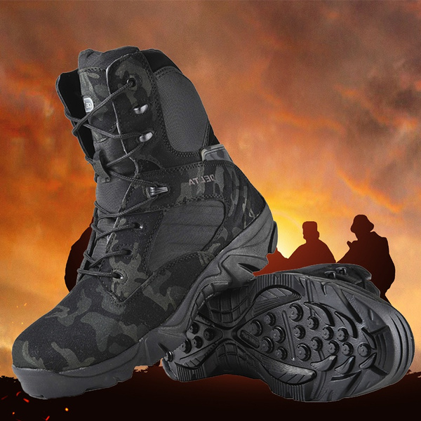 Delta Military Tactical Boots Leather