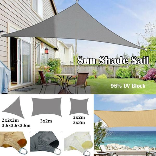Sun Shade Sail Garden Patio Sunscreen Awning Canopy Shade 98/%UV Block Waterproof