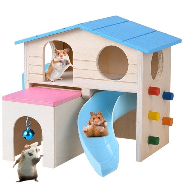 woodenhamstervillatoy, Funny, Pets, house
