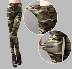 penciltrouser, camouflagetrouser, Leggings, elastic waist