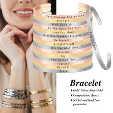 Jewelry, skinnybangle, handstampedbracelet, Bracelet