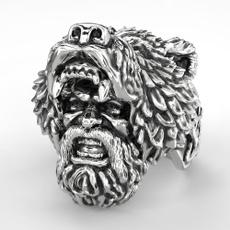 Steel, Punk jewelry, biker, vikingwarriorring