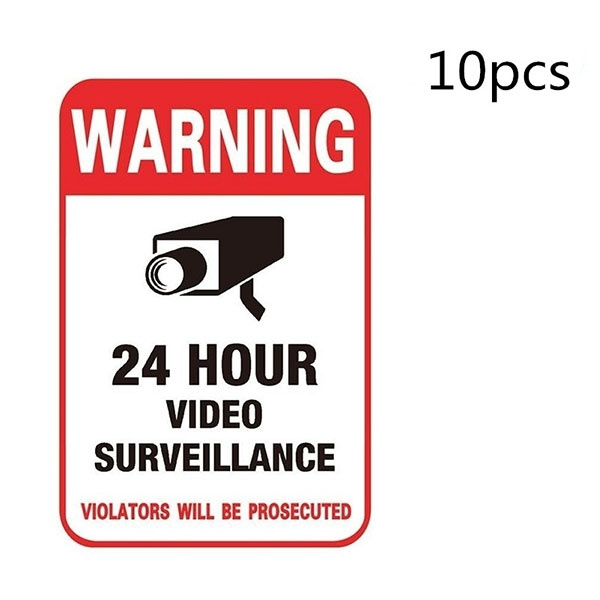 warningdecal, securitysignsticker, Stickers, videosignsticker