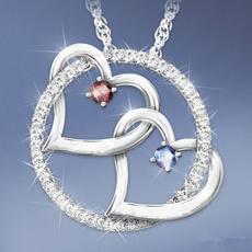 birthstonenecklace, Sterling, DIAMOND, gemstonenecklace