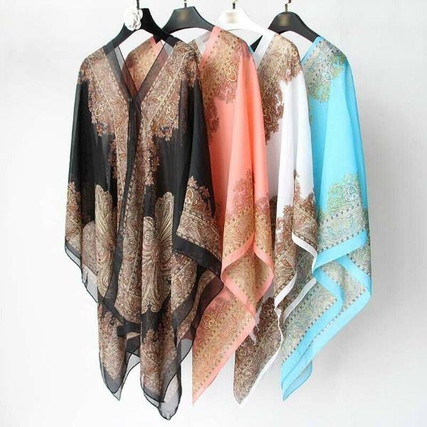 Women, women scarf, chiffonshawl, chiffon