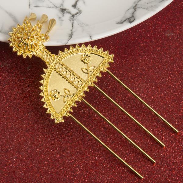 habasha, gold, Pins, hairpinjewelry