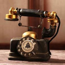 Antique, Decor, rotarytelephonestatue, Home Decor