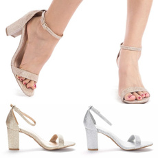 Summer, Sandals, Buckles, Pump